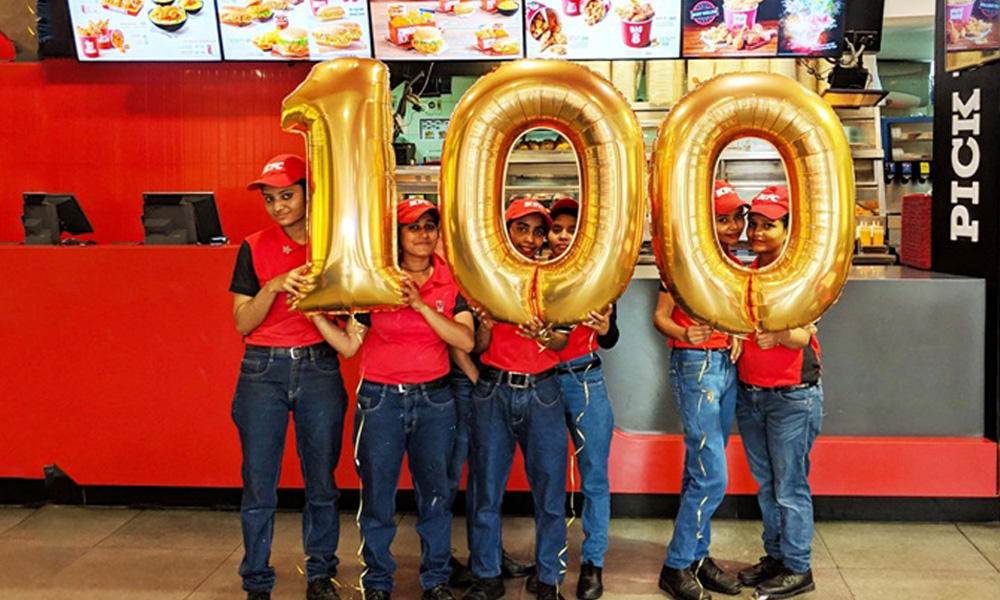 KFC enters 100th city in India