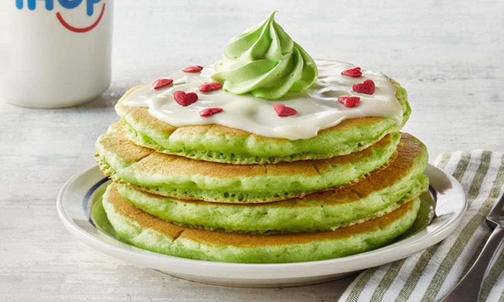 IHOP Unveils Green Pancakes for the Holiday Season