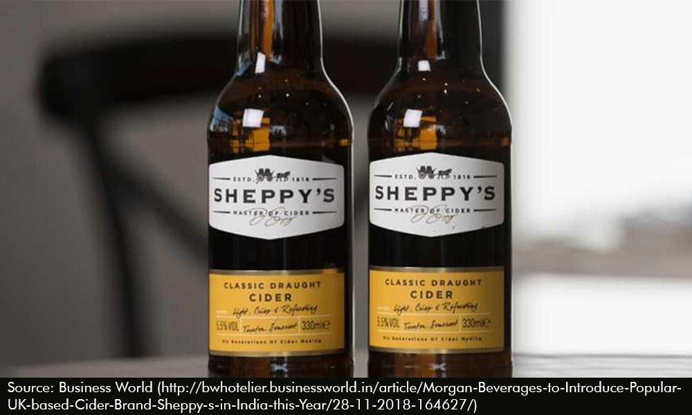 Morgan Beverages to Introduce Popular UK-based Cider Brand Sheppy's in India this Year